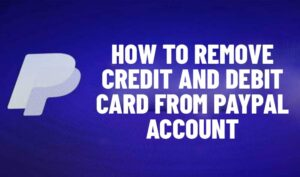remove card from paypal account
